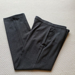 Investments 12R Black Tweed Flat Career Pants